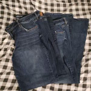 2 American Eagle Favorite Boyfriend Jeans